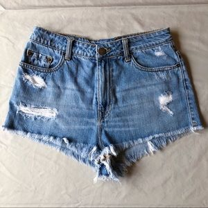 UO Jean high waisted shorts